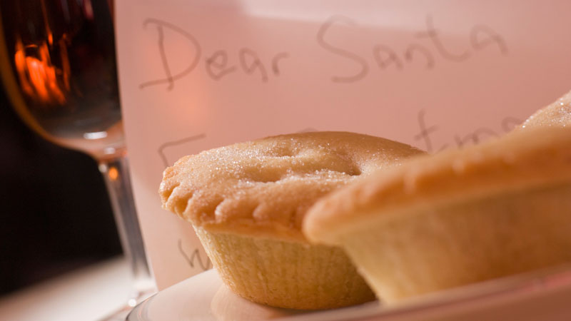 Mince Pies and Santa Claus note