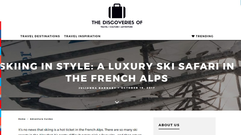 The Discoveries Of Blog, Travel Destinations, Ski Safari