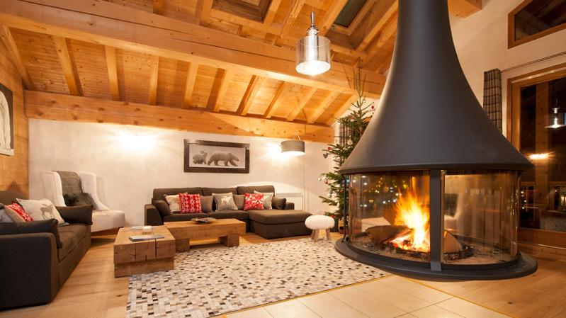 La Marquise Luxury Chalet Living Room